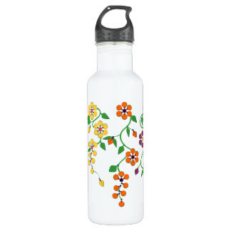 Pattern NO.2: Hanging Flowers Water Bottle 710 Ml Water Bottle