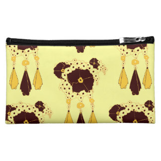 Pattern NO.3: Abstract Floral Print Cosmetic Bag