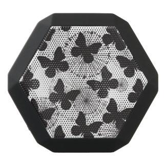 pattern of a butterfly black bluetooth speaker