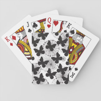 pattern of a butterfly playing cards