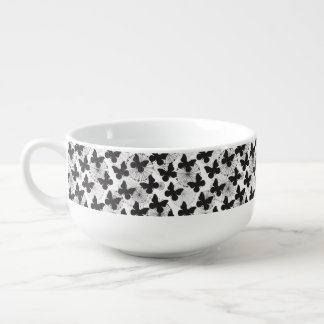 pattern of a butterfly soup mug
