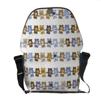 pattern of a toy teddy bear commuter bag