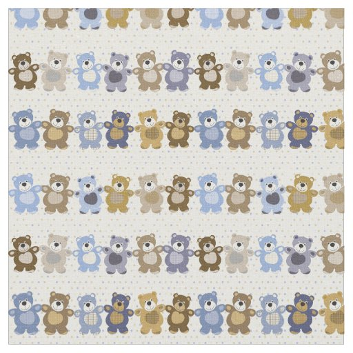 pattern of a toy teddy bear fabric