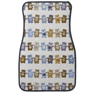 pattern of a toy teddy bear floor mat