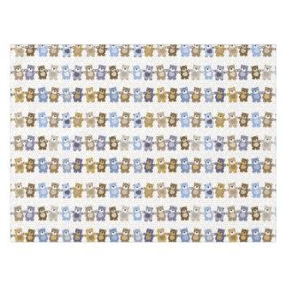 pattern of a toy teddy bear tablecloth