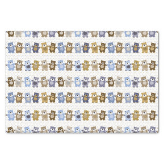 pattern of a toy teddy bear tissue paper