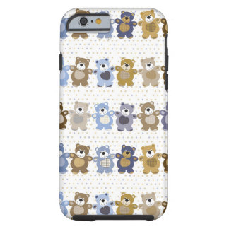 pattern of a toy teddy bear tough iPhone 6 case
