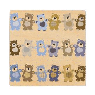pattern of a toy teddy bear wood coaster