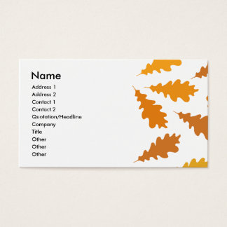 Pattern of Autumn Leaves. Business Card
