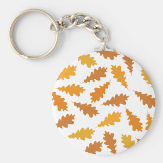 Pattern of Autumn Leaves Key Chain