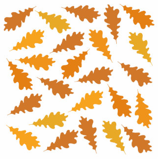 Pattern of Autumn Leaves. Acrylic Cut Out