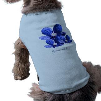 Pattern of Blue Flowers Sleeveless Dog Shirt