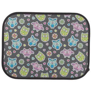 pattern of cartoon owls car mat