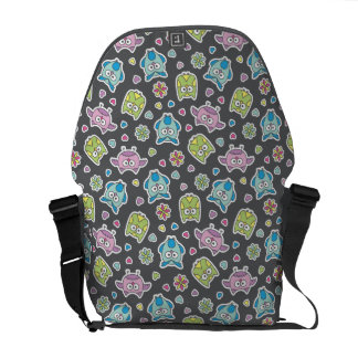 pattern of cartoon owls courier bags