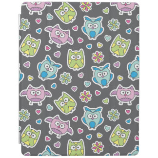pattern of cartoon owls iPad cover