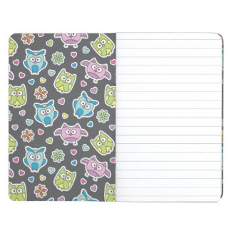 pattern of cartoon owls journal