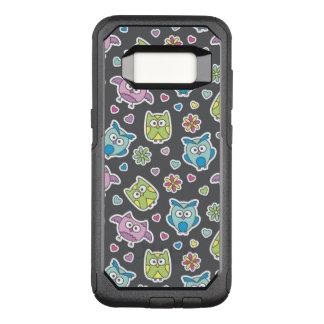pattern of cartoon owls OtterBox commuter samsung galaxy s8 case