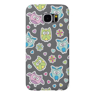 pattern of cartoon owls samsung galaxy s6 cases