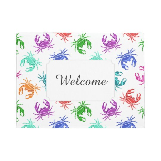 Pattern Of Crabs | Add Your Text Doormat