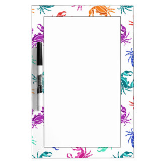 Pattern Of Crabs Dry Erase Whiteboards