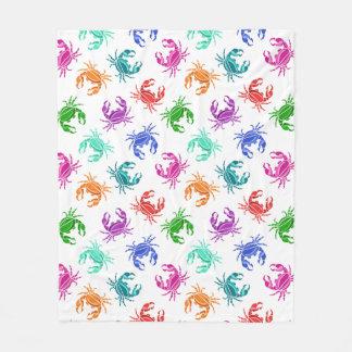 Pattern Of Crabs Fleece Blanket
