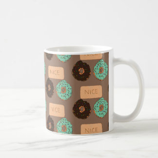 Pattern of doughnuts & Nice biscuits Coffee Mug