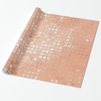 Pattern of glittery peach wrapping paper