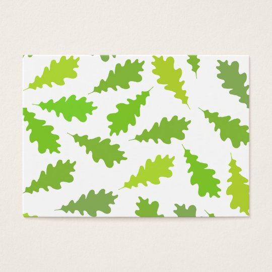 Pattern of Green Leaves. Business Card