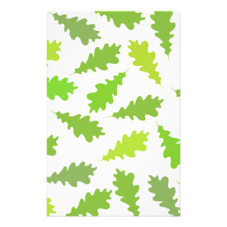 Pattern of Green Leaves. Flyer Design