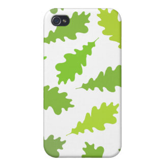 Pattern of Green Leaves iPhone 4 Case