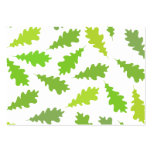 Pattern of Green Leaves. Pack Of Chubby Business Cards
