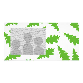 Pattern of Green Leaves. Personalised Photo Card