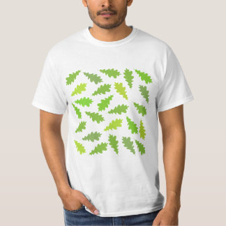 Pattern of Green Leaves. T-Shirt