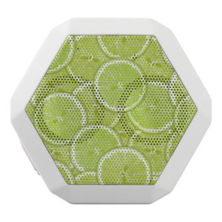 Pattern Of Green Lime Slices White Boombot Rex Bluetooth Speaker