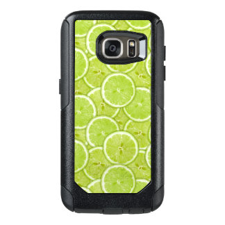 Pattern Of Green Lime Slices OtterBox Samsung Galaxy S7 Case