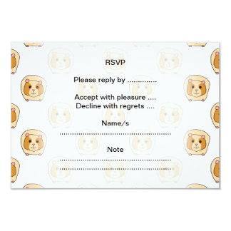 Pattern of Guinea Pigs. 9 Cm X 13 Cm Invitation Card