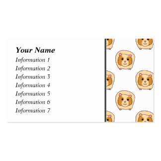 Pattern of Guinea Pigs. Double-Sided Standard Business Cards (Pack Of 100)