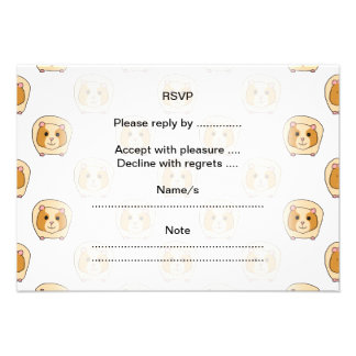 Pattern of Guinea Pigs Personalized Invites