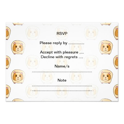 Pattern of Guinea Pigs. Personalized Invites