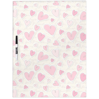 Pattern of Hearts Dry Erase Board