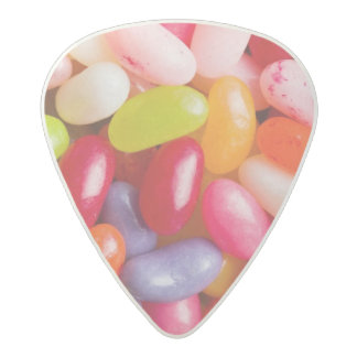 Pattern of jelly beans acetal guitar pick