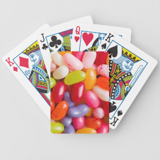 Pattern of jelly beans bicycle playing cards