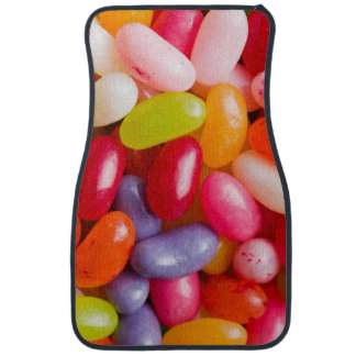 Pattern of jelly beans car mat