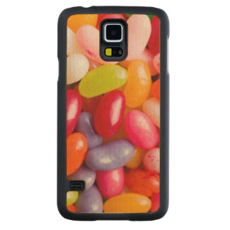 Pattern of jelly beans carved maple galaxy s5 case