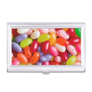 Pattern of jelly beans case for business cards