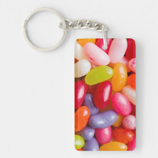 Pattern of jelly beans key ring