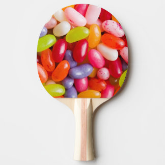 Pattern of jelly beans ping pong paddle