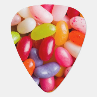 Pattern of jelly beans plectrum