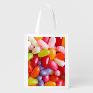Pattern of jelly beans reusable grocery bag