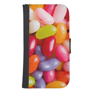 Pattern of jelly beans samsung s4 wallet case